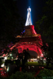 Eiffel Tower in White and Red  (4588)