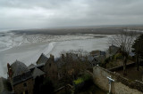 A View from the Mont Saint-Michel to the bay