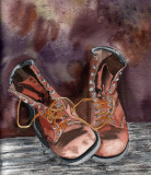 Bills boots, 6 x 6 1/2  3-09