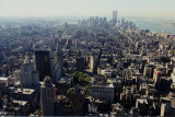 Looking south over Manhattan from Empire State Building