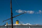 Cruise ship vs steamship