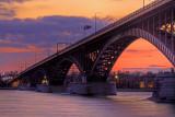 Peace Bridge Sunset