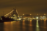 The USS Little Rock At Night
