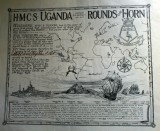 H.M.C. S. Uganda Rounds The Horn