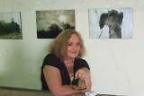 me at the exhibition opening au Domaine La Croix Gratiot
