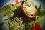 fresh salad with goats cheese