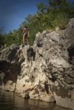 preparing a jump