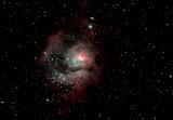 M8 emission nebula - The Lagoon Nebula