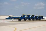 The Blue Angel F/A-18 Hornets 1 thru 6