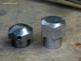 0855 Alloy (home made) fork crown nut (my old one was damaged and needed chroming)