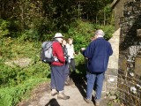 Ramblers at Llandyfeisant Church