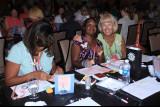 Jackie Bowman meets Gina at convention.