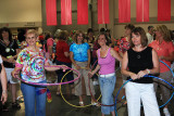 Hula hoop competition.