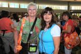 Denise Waddell (right).