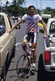 Alexi Grewal in Hilo before the road race