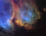 IC1848 in Hubble Palette