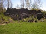 Lämningar efter bastion von Rosen i Lovisa