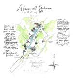 Karta över Afairen vid Sågebacken