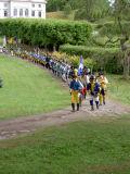 Truppen på väg till svenska lägret