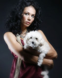 Model: Daniella and her pooch Star