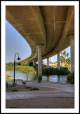 Under the freeway