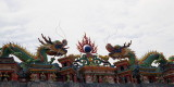 Dragons on roof of temple