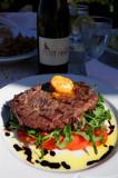 Classic German Dish, Venison Fillet Mingnon on Garden Vegetables, Miltenberg