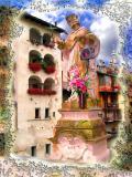 Bridge Statue Nearby Lake Como