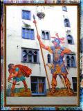David and Goliath in Regensburg, Bayern