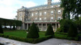 The trees are beautifully manicured in Bosworth's Kykuit gardens.