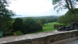 View from a Orange Tree Terrace. The mansion was built on the highest point of Pocantico Hills, with a Hudson River view.