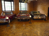 These more recent cars stored in the Coach Barn were used by Nelson and his family.
