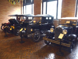 Some early Model A and Model T Fords used by the Rockefellers and stored in the Coach Barn.