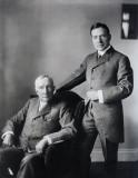 John D. Rockefeller (Senior) and John D. Rockefeller (Junior), about 1920.