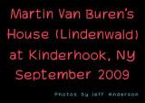 Martin Van Buren's House (Lindenwald) at Kinderhook, NY cover page.