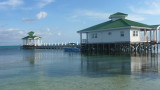 Another interesting dock at Ambergris Caye.