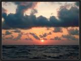Sailing toward the rising sun.