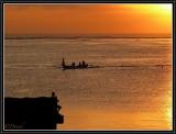 Watching the return of the fishermen.
