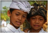 Two friends dressed for an Odalan (Temple celebration).