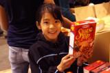 Bay Island Gymnastics donation to the Alameda Food Bank 11-24-08