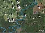 Google Earth of Sukau area