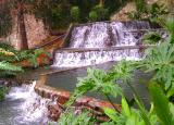 A waterfall on the Riverwalk