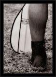Paddle And Leg BW