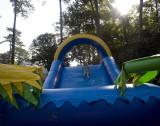 Evy checks out the slide