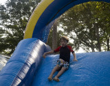 boys were allowed on the slide, too