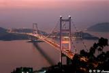 Tsing Ma Bridge at dusk 01