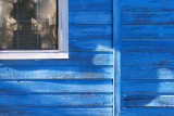Window In Blue Wall 30542