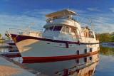 Docked Boat At Sunrise 18199