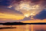 Otter Lake Sunset Sunrays 18481-2