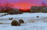 Barns In Winter Sunrise 20101210